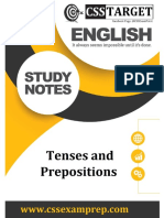 English Grammar (Tenses and Prepositions)