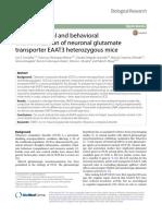 Paper Moya Neurochemical and Behavioral Characterizarion of Neuronal Glutamate