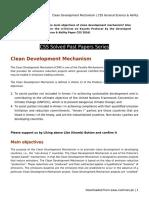 Clean Development Mechanism _ CSS General Science & Ability
