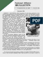 NationalAllianceBulletin-December1984-WilliamLutherPierce