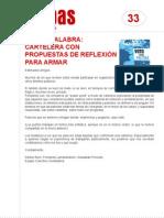 FichaMapas033 - Voto y palabra - Cartelera con propuestas de reflexión para armar