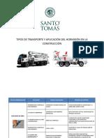 TIPOS DE TRANSPORTE Y APLICACIÓN DEL HORMIGÓN EN LA CONSTRUCCIÓN.docx