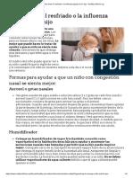 Cómo Tratar El Resfriado o La Influenza (Gripe) de Su Hijo - HealthyChildren.org