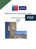 Reglamento de Servicio de Obra Ruta La Serena Vallenar