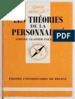 Les Theories de La Personnalite