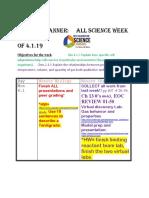 week of 4