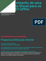apresentação P&D - Desenvolvimento de identidade visual PET-UFPEL