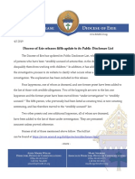 Diocese of Erie Updates Public Disclosure List
