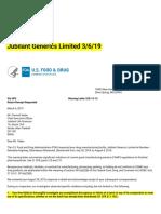 Warning Letters _ Jubilant Generics Limited 3_6_19.pdf
