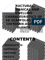 Structural, Mechanical and Swelling Characteristics of 3d
