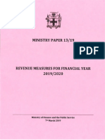 Ministry Paper 13-19 FY 2019-2020 Dated 7 March 2019