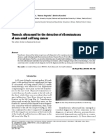 Thoracic Ultrasound for the Detection of Rib Metastases