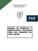 SIMBOLOS Y ABREVIATURAS MILITARES PARA USO CONJUNTO DE LA FA.doc