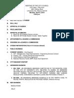 University City Council Agenda For April 8, 2019