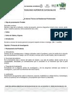 Estructura Del InformeTécnicode Residencias Profesionales