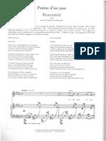 Fauré Poème d'Un Jour Original Key
