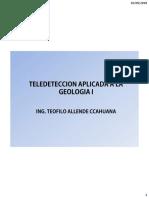 DEFINCION Y PROCESO DE TELEDETECCION