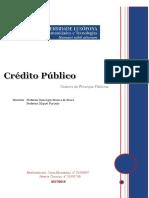 Trabalho Crédito Público