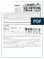 Be a Volunteer Past and Continuous