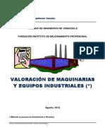 Valoración de Maquinarias y Equipos Industriales