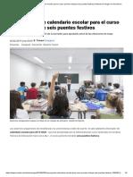 La Propuesta de Calendario Escolar Para El Curso Próximo Incluye Seis Puentes Festivos _ Noticias de Aragón en Heraldo.es