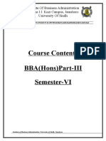 Course Content Bba Sindh Uni