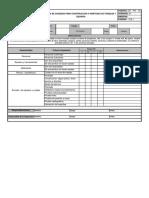 Lista de Chequeo Montaje de Tks y Equipois
