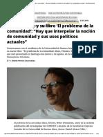 'Hay que interpelar la noción de comunidad y sus usos políticos actuales'.pdf