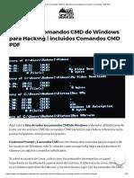 ▷ ▷ Todos los comandos CMD de Windows para Hacking _ incluidos Comandos CMD PDF