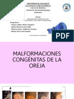 Malformaciones Congénitas de Oído Subgrupo2
