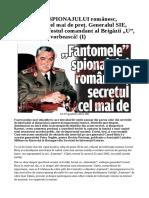 Disputa Col. Cornel Biris - Ioan Talpes - Fantome
