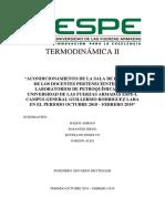 """""""ACONDICIONAMIENTO DE LA SALA DE REUNIONES DE LOS DOCENTES PERTENECIENTES A LOS LABORATORIOS DE PETROQUÍMICA DE LA UNIVERSIDAD DE LAS FUERZAS ARMADAS ESPE-L CAMPUS GENERAL GUILLERMO RODRIGUEZ LARA EN EL PERIODO OCTUBRE 2018 – FEBRERO 2019"""
