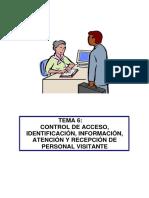 Tema 6. Control de Acceso Identificacion Informacion Atencion y Recepcion de Personal Visitante