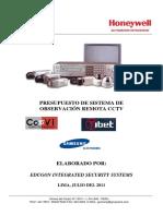 Presupuesto CCTV Edificio El Morro EDUGON 2011-1