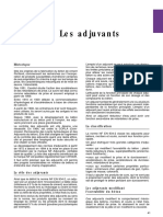 3.2 Les Adjuvants