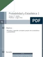 Clase Probabilidad y estadística 1