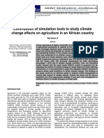 contribution of simulation tools to study climate change effects on agriculture in an african country