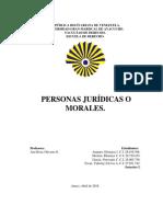 Personas Jurídicas o Morales