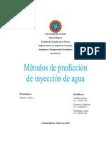 Metodo de Prediccion de Inyeccion de Agua