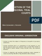 Jurisdiction of the RTC