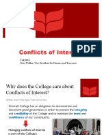 Conflicts of Interest 101 Fall 2014