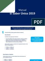 Manual Saber Único 2019
