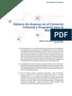 Balances de Avances en el Comercio Informal y Propuesta para la Mesa Técnica