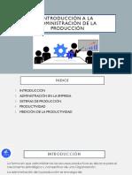 Administración de La Producción- Presentación