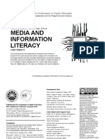 Media and Information Literacy TG 2019
