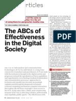 The ABCS of effectivenes