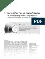 Una visión de la enseñanza de la Ingeniería de Software como apoyo al mejoramiento de las empresas de software