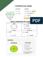Ejemplos de Area y perimetro de figuras geometricas
