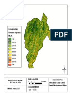 Mapa de pendientes de la zona del lago de Tota