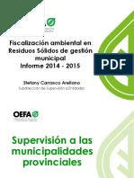 3. Fiscalización Ambiental en Residuos Sólidos de Gestión Municipal 2014 2015